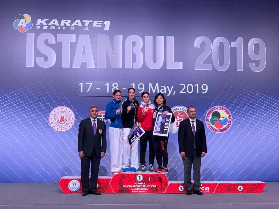 Qadın karateçimiz İstanbulda Karate1 Seria A turnirində medal qazanıb